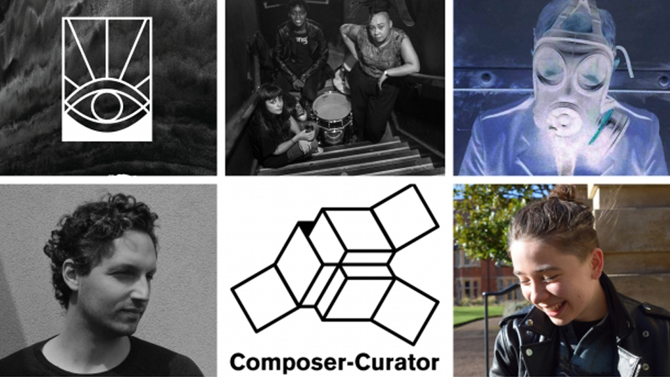 Collage of composer-curator projects