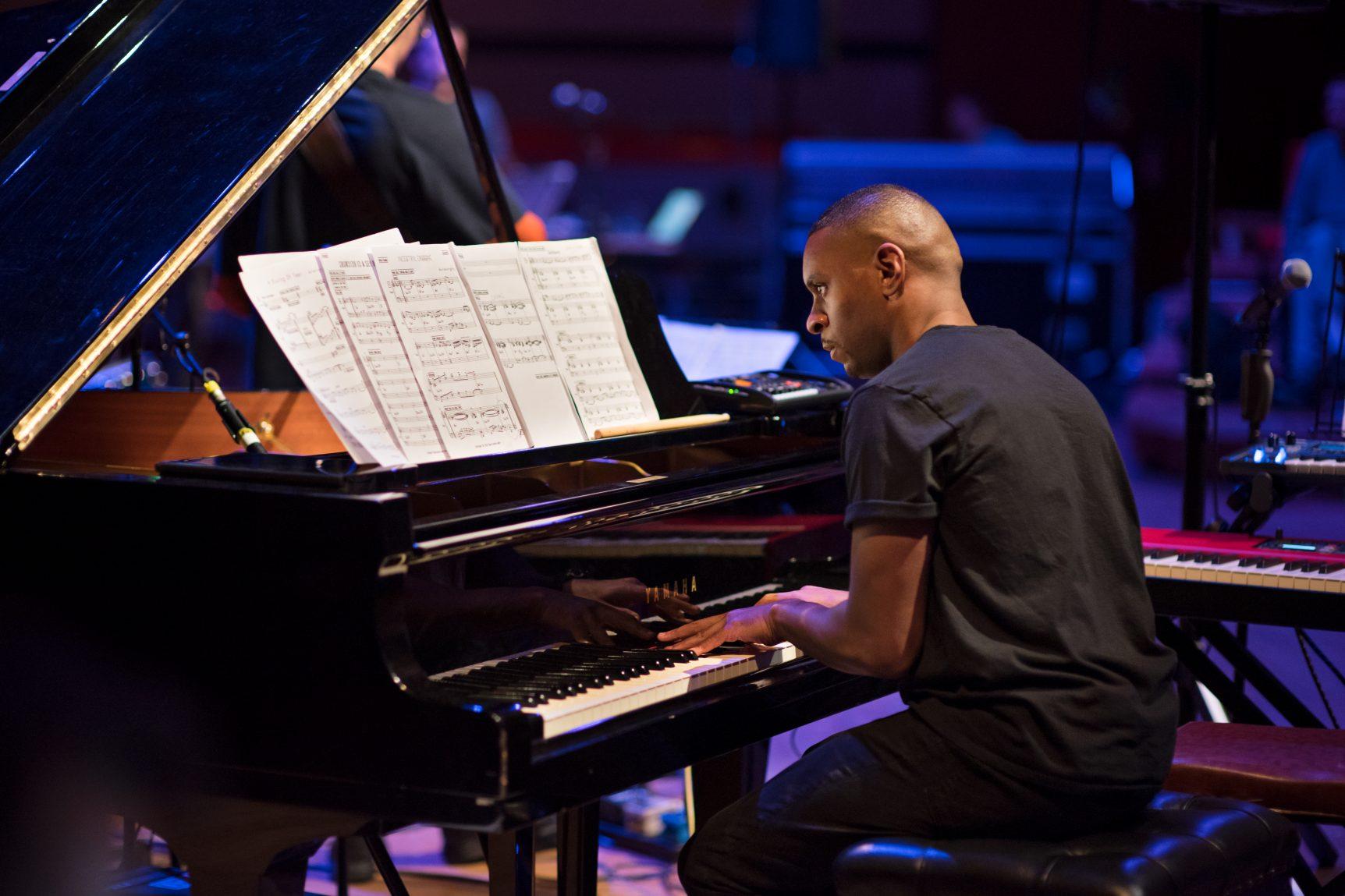 David Austin Grey playing piano