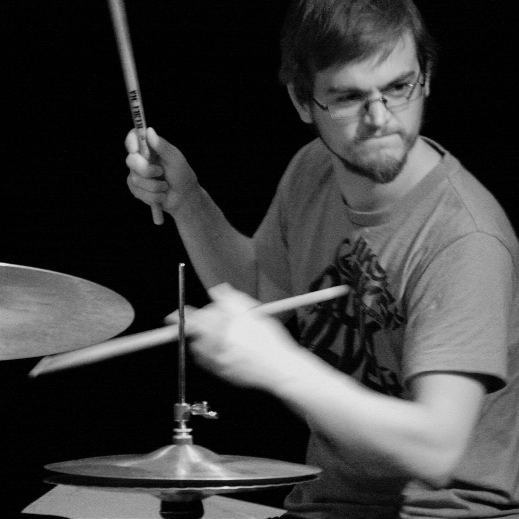 Johnny Hunter on the drums