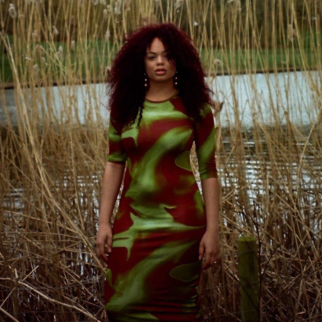 Cassanda Gurling, pictured amongst reeds
